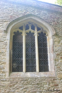 Keysoe, St Mary. North aisle, east window.