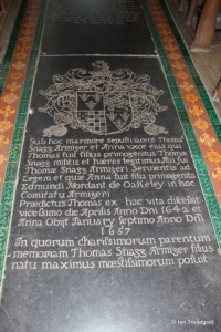 Marston Moretaine - St Mary. Chancel, Snagg family monument.