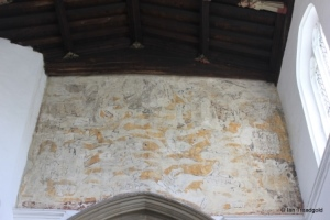 Marston Moretaine - St Mary. Chancel arch - 'doom' painting.