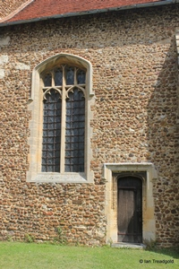 Langford, St Andrew. Chancel, south-west window.