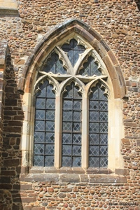 Langford, St Andrew. South aisle, east window.