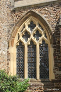 Langford, St Andrew. South aisle, south window.