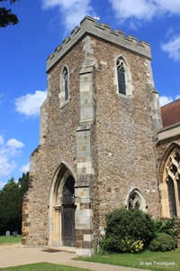 Langford, St Andrew. South tower from the south-east.
