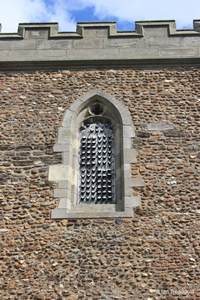 Langford, St Andrew. South tower south belfry opening.