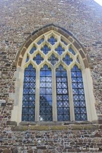 Langford, St Andrew. West window.