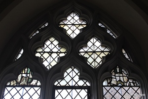 Langford, St Andrew. South aisle, south window internal.
