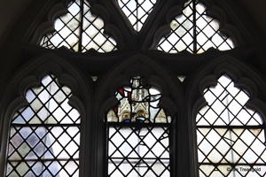 Langford, St Andrew. Lady chapel, east window internal.