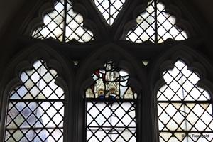 Langford, St Andrew. Lady chapel, east window internal.