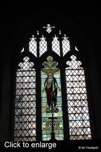 Langford, St Andrew. East window internal.