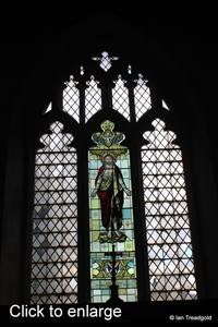 Langford, St Andrew. East window internal.