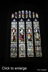 Luton - St Mary. Wenlock Chapel north-east window internal.