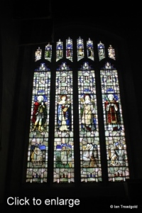 Luton - St Mary. Wenlock Chapel north-west window internal.
