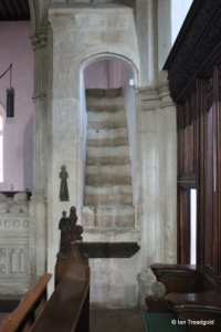 Luton - St Mary. Wenlock Chapel rood stairs.