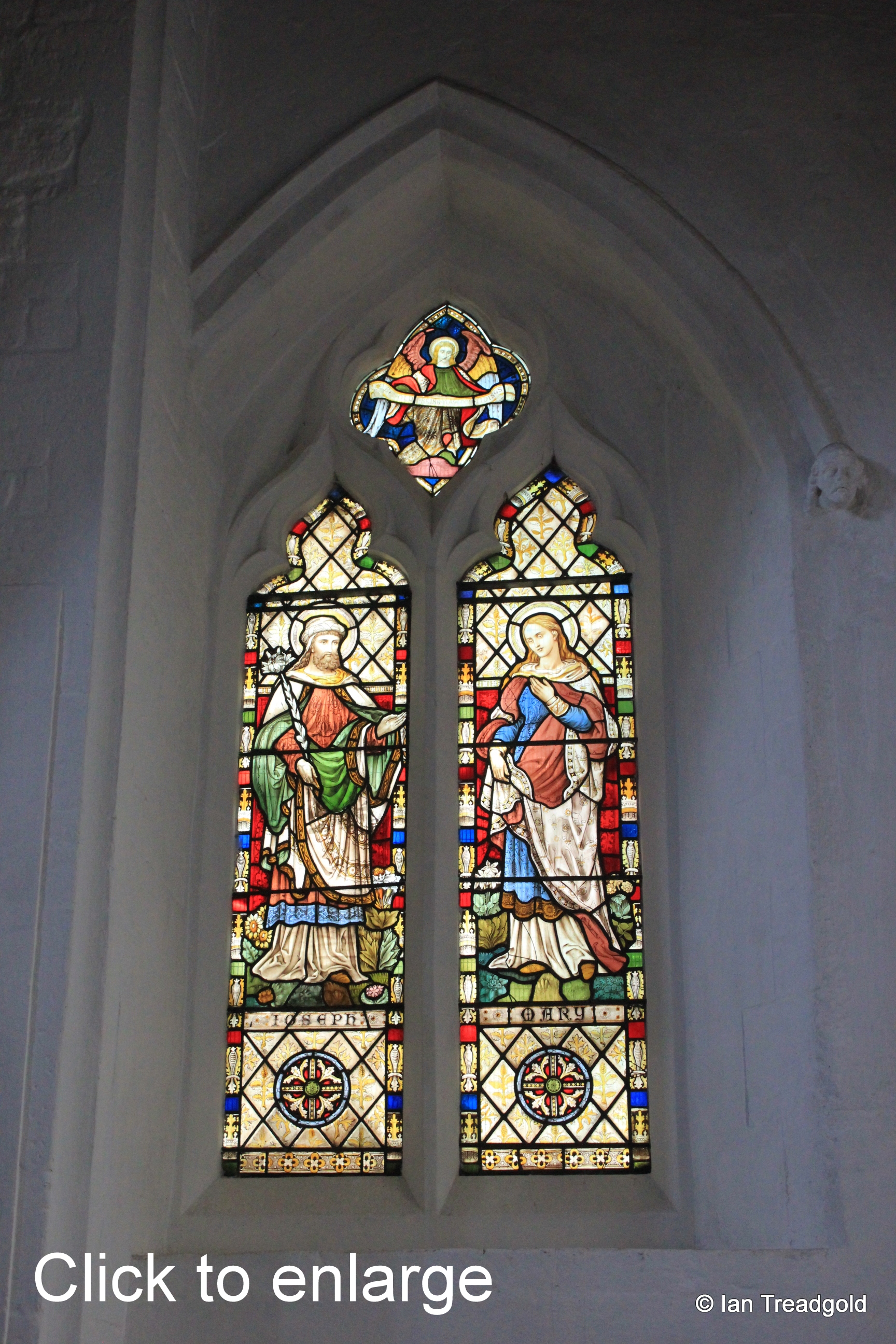 Luton - St Mary. North aisle west window internal.