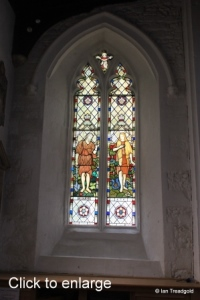 Luton - St Mary. South aisle, west window internal.