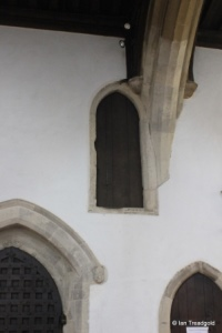 Luton - St Mary, South porch doorway internal.