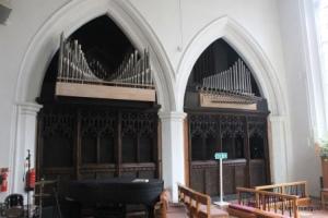 Luton - St Mary. Hoo Chapel, organ loft.