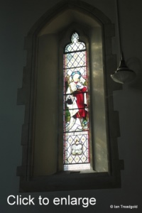 Linslade - St Barnabas. Chancel, south window internal.