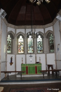Linslade - St Barnabas. Lady Chapel east window internal.