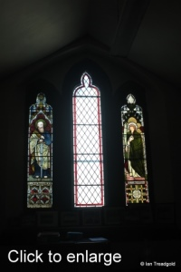 Linslade - St Barnabas. Choir vestry window internal.