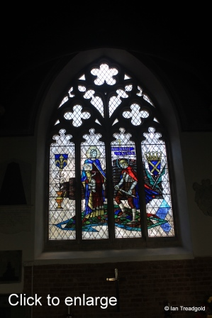 Maulden - St Mary. South aisle, east window internal.