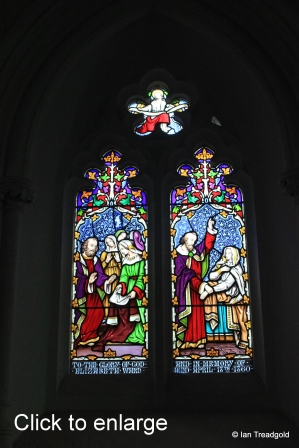 Maulden - St Mary. Chancel, south window internal.