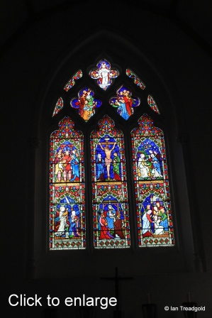 Maulden - St Mary. East window internal.