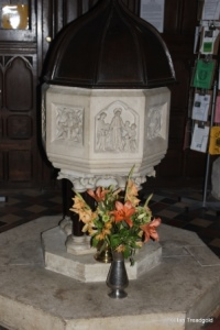 Maulden - St Mary. Font.