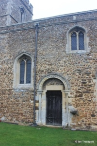 Little Barford - St Denys. Doorway from the south.