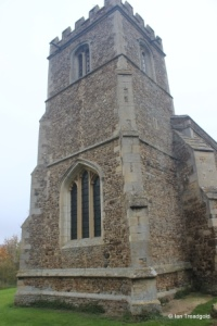 Little Barford - St Denys. Tower from the south-west.