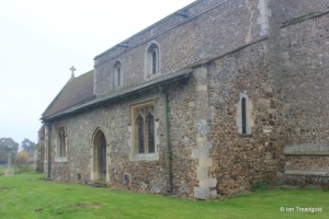Little Barford - St Denys. North aisle from the north-west.