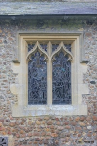 Little Barford - St Denys. North aisle, north-west window.