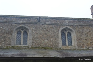 Little Barford - St Denys. Clerestory from the north.