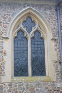 Little Barford - St Denys. Chancel, north side window.