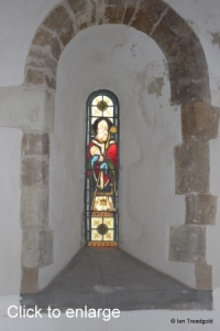 Little Barford - St Denys. North aisle, west window internal.