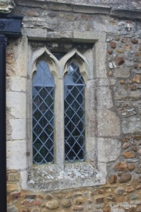 Little Staughton - All Saints. South aisle, western window.