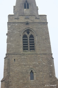 Little Staughton - All Saints. Tower, belfry opening.