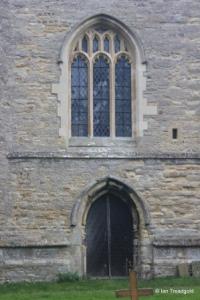 Little Staughton - All Saints. West window and door.