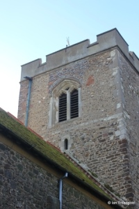 Meppershall - St Mary. Tower from the north-east.