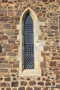 Meppershall - St Mary. Chancel, south lancet window.