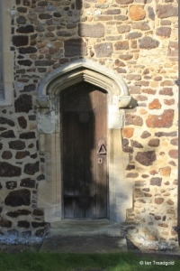 Meppershall - St Mary. Chancel, priest's door.