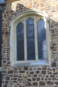 Meppershall - St Mary. Chancel, south-west window.