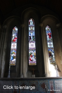 Meppershall - St Mary. East window internal.