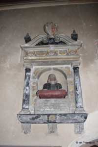 Meppershall - St Mary. Chancel, Archer memorial.