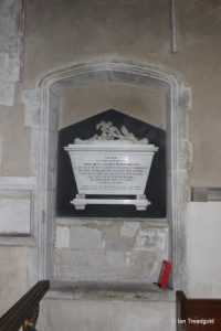 Meppershall - St Mary. Chance, Webster memorial.