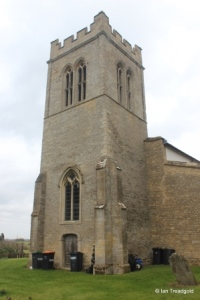 Melchbourne, St Mary Magdalene. Tower from the south-west.