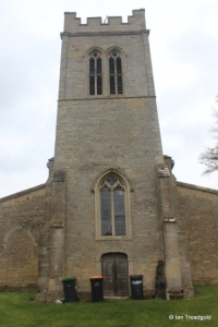 Melchbourne, St Mary Magdalene. Tower from the west.