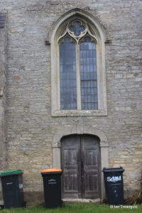 Melchbourne, St Mary Magdalene. Tower, west window and door.