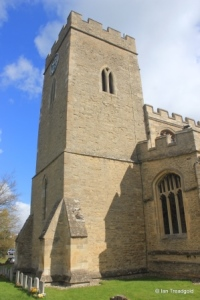 Milton Ernest - All Saints. Tower from the south.