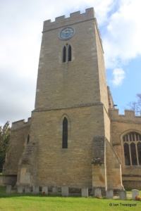 Milton Ernest - All Saints. Tower from the west.